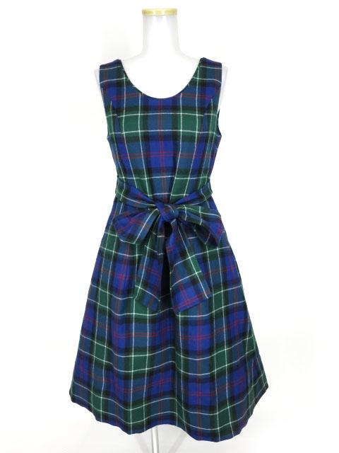 Jane Marple タータンチェックのパネルドレス