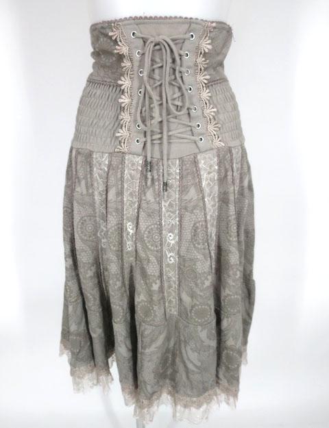 Rozen Kavalier レースプリント柄2wayスカート