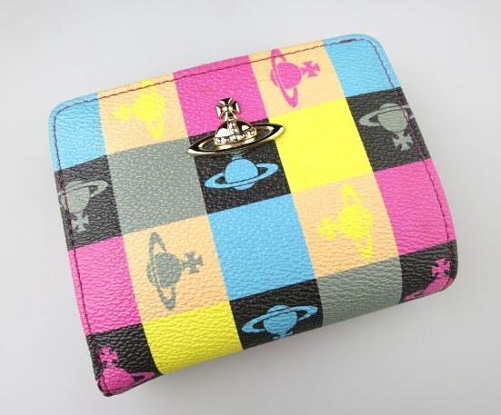 Vivienne Westwood ライペライン ロゴマニア がま口折り財布