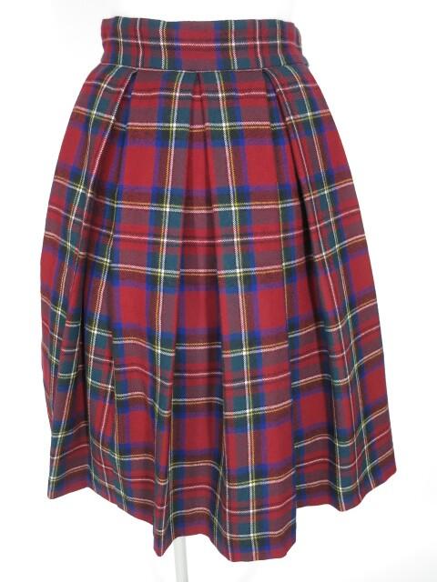 Jane Marple タータンチェックのバックフリルスカート