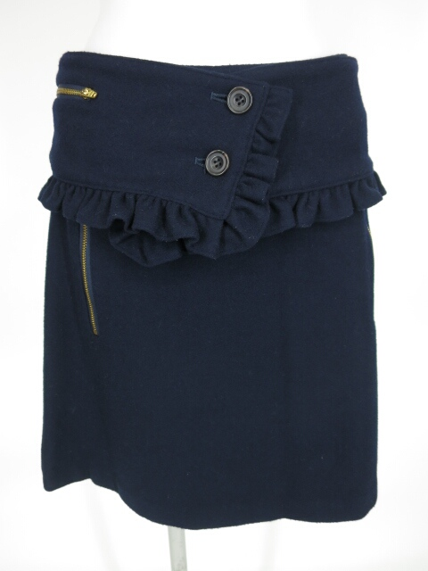 Jane Marple Dans Le Salon カマー付きウールスカート