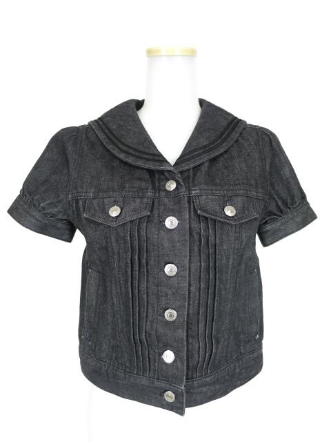 Jane Marple デニム半袖セーラージャケット