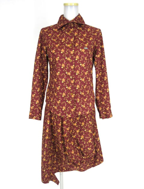 Vivienne Westwood RED LABEL リバティ柄ブラウス&スカート セット