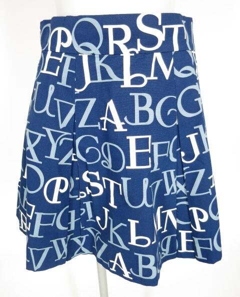 Jane Marple アルファベットロゴのミニスカート