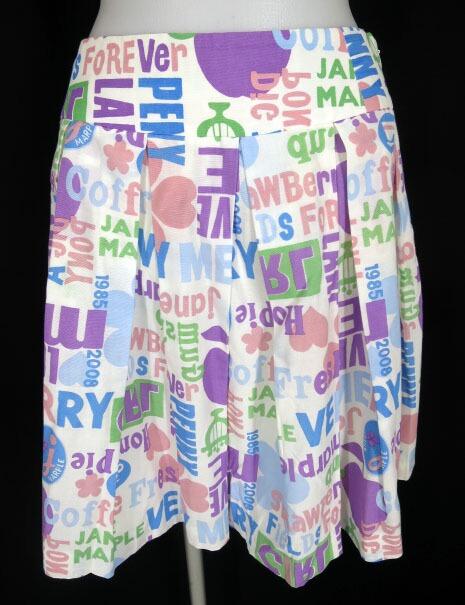 Jane Marple ブリティッシュロゴ柄スカート