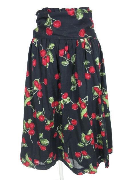 Jane Marple チェリー柄スカート