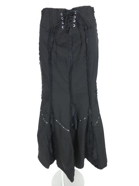 OZZ ONESTE レース付きマーメイドロングスカート