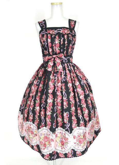 Victorian maiden ローズブーケストライプドレス