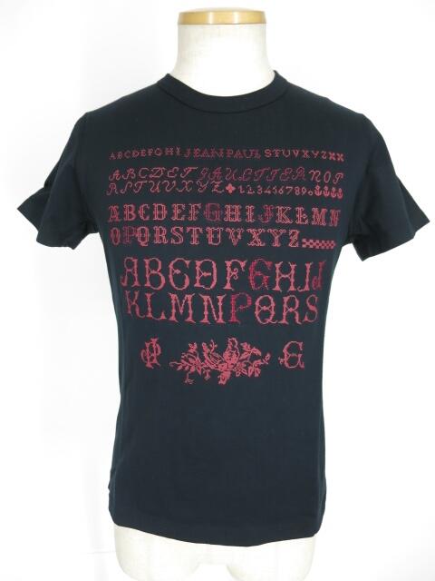 Jean Paul GAULTIER アルファベットプリント&刺繍Tシャツ