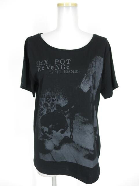 SEX POT スカルプリントTシャツ