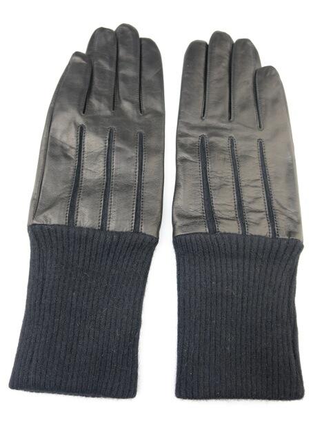 Jean Paul GAULTIER ニットリブ付きレザー手袋