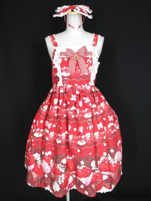 BABY, THE STARS SHINE BRIGHT Creamy Berry Fairy Dream 柄ジャンパースカートII&カチューシャ セット