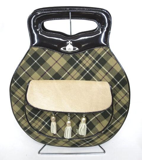 Vivienne Westwood タータンチェックハンドバッグ