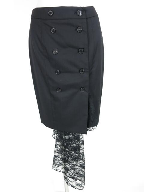 alice auaa レース付きダブルボタン巻きスカート