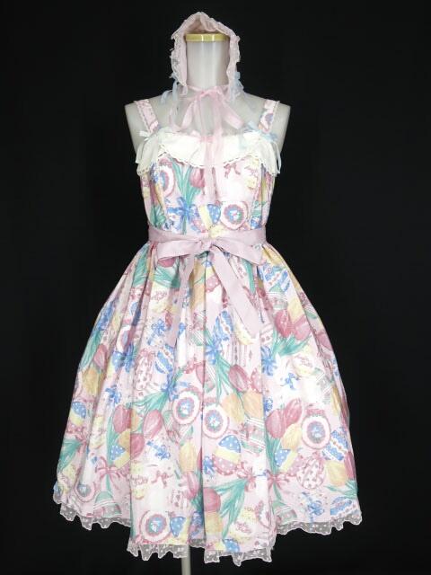 Angelic Pretty Flower Egg Gardenジャンパースカート&ヘッドドレス セット