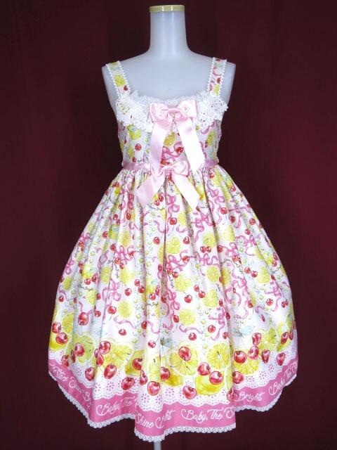 BABY, THE STARS SHINE BRIGHT Cheerful Lemon柄ジャンパースカート2型