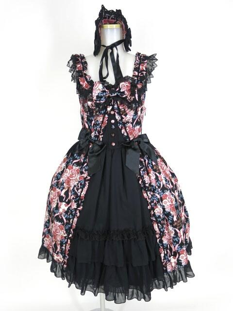 BABY, THE STARS SHINE BRIGHT Pearl Bouquet柄ジャンパースカート2型&ヘッドドレス セット