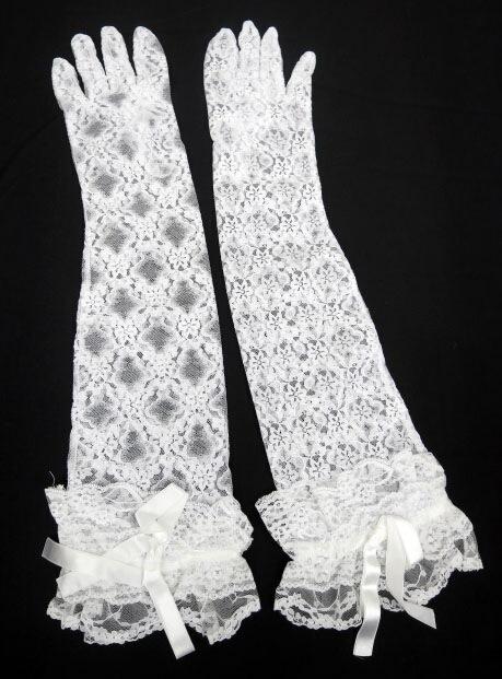 MARBLE 総レースロング手袋