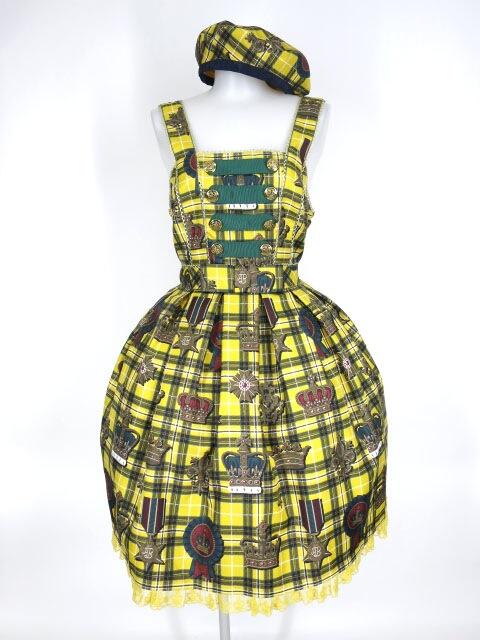 Angelic Pretty Antique Crown SpecialジャンパースカートSet(JSK+ベレー)