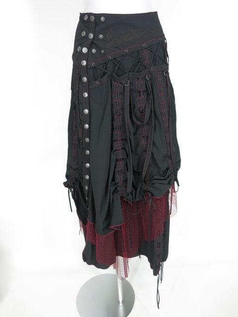 Ozz Croce レイヤードロングスカート