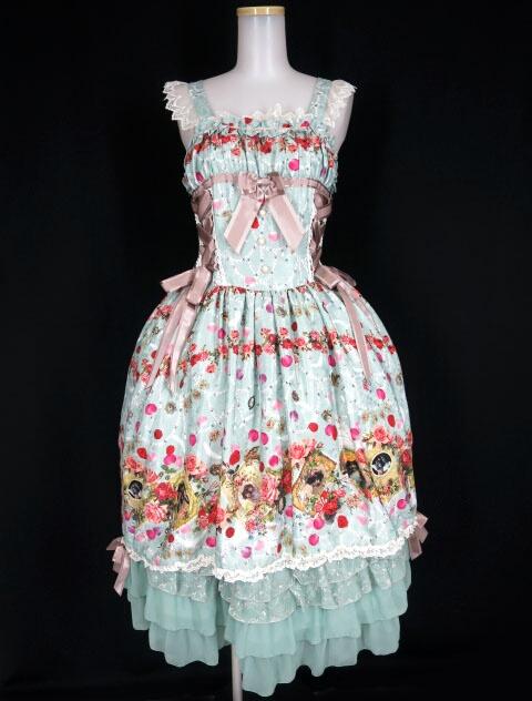 BABY, THE STARS SHINE BRIGHT Lady Victorian Rose Jewelry~想いは薔薇の花びらの上に~柄ロングジャンパースカー�...