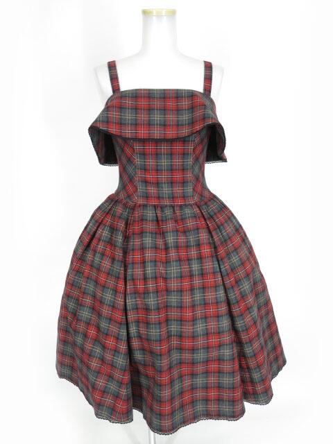 Victorian maiden ブリティッシュチェックケープドレス