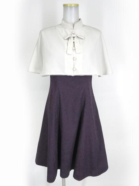 Victorian maiden ケープ付アミーローズドレス