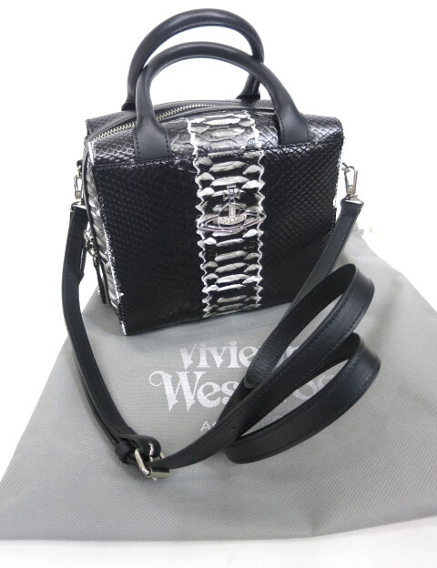 Vivienne Westwood DEVON パイソン型押しレザーバッグ