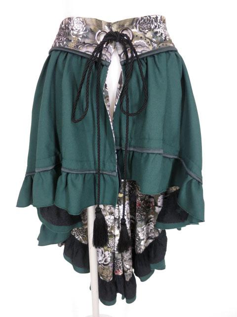 Qutie Frash 裏地和柄 後ろロングラップスカート