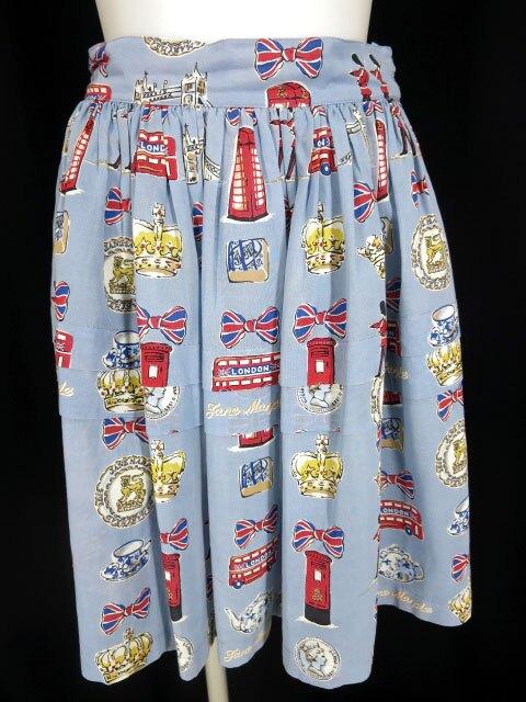 Jane Marple ロンドンプリント スカート