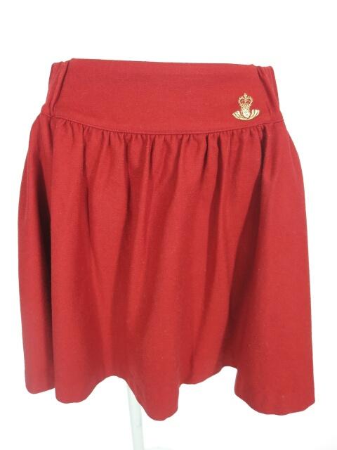 Jane Marple バックリボン ウールスカート
