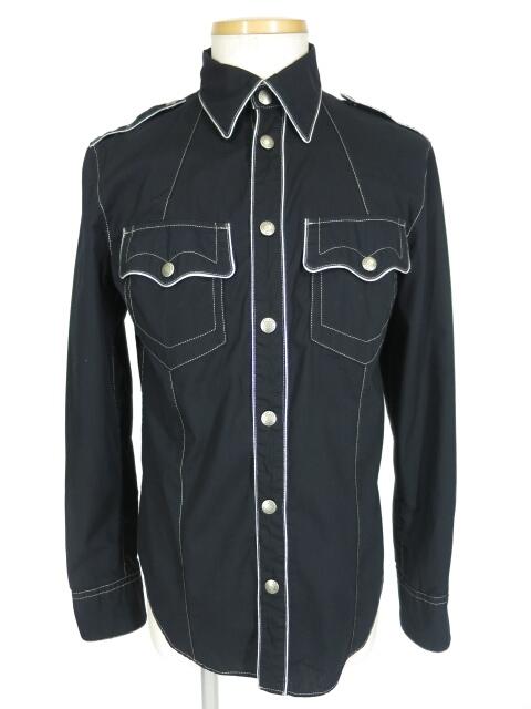 JEAN'S Paul GAULTIER パイピングミリタリーシャツ