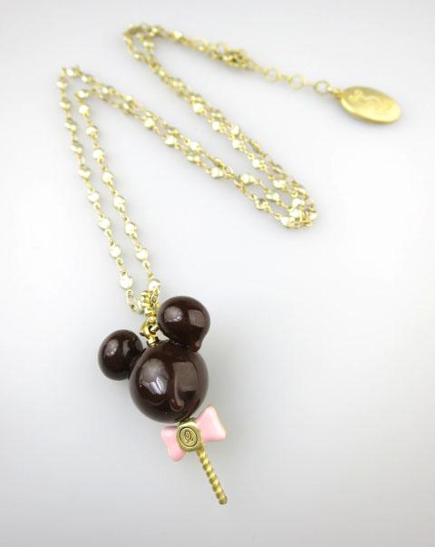 Q-pot.×Disney ミッキーマウス/メルティーロリポップチョコレート ネックレス