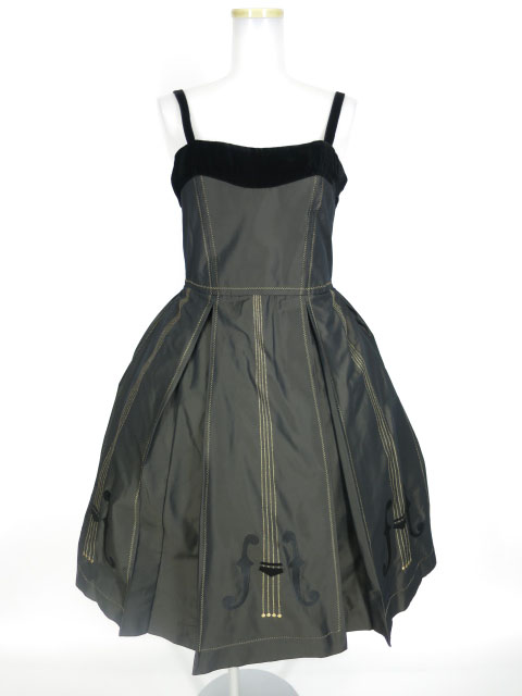 Jane Marple バイオリンエンブロイダリーのドレス