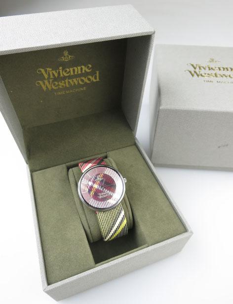 Vivienne Westwood VV020BR ダービーチェック 腕時計