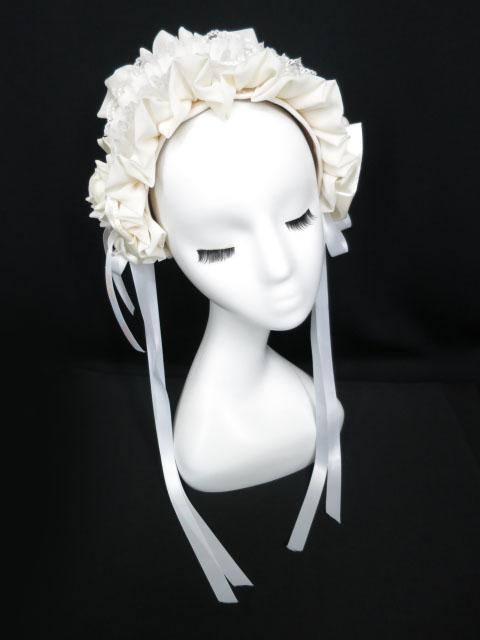 Triple fortune ローズ付きヘッドドレス