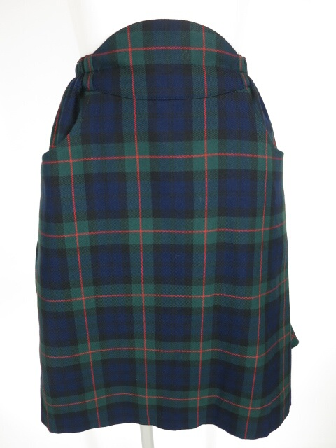 MILK チェック柄スカート