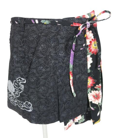 gouk 和柄プリーツ巻きスカート