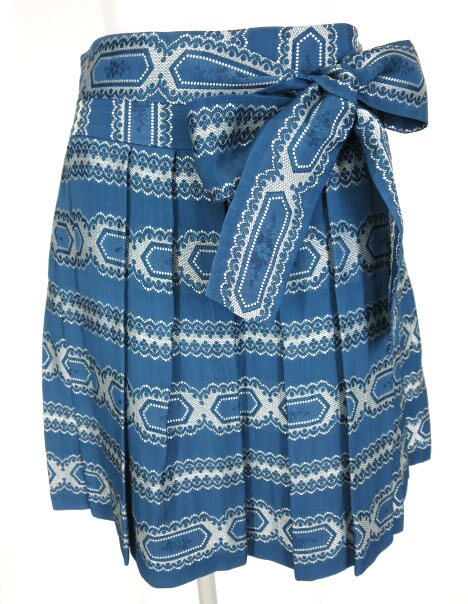 Jane Marple ジャガード織りプリーツスカート