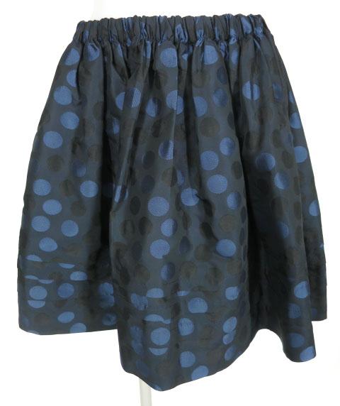 Jane Marple ドットジャガードスカート