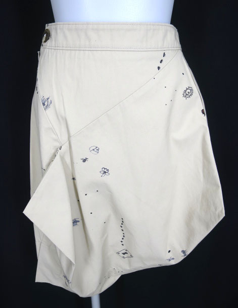 Vivienne Westwood ANGLOMANIA 落書き柄 立体裁断スカート