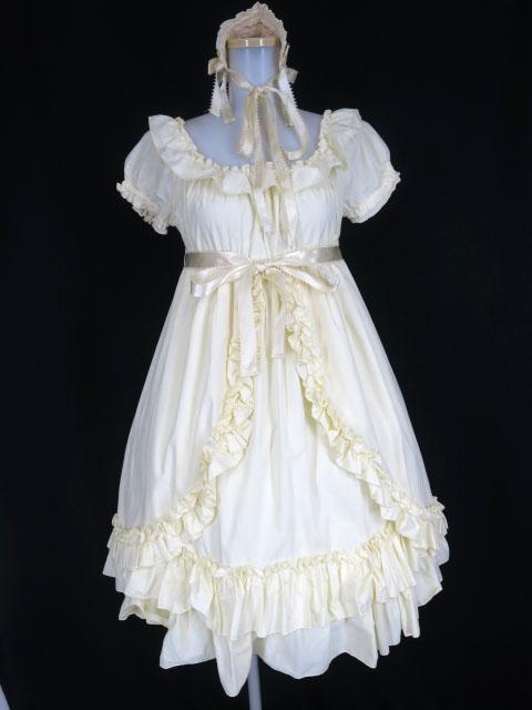 Pina sweetcollection シャーリングワンピース&ヘッドドレス セット