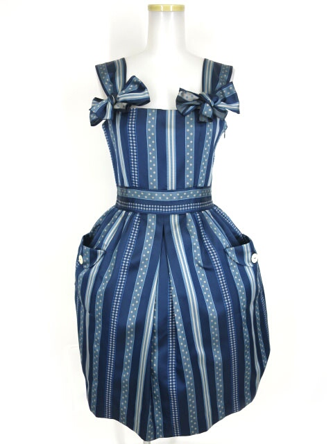 Jane Marple レジメンタルジャンパースカート