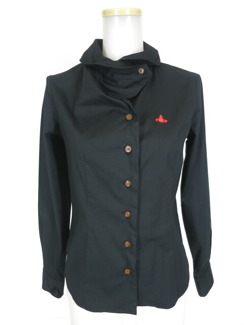 Vivienne Westwood RED LABEL オーブ刺繍 変形衿ブラウス
