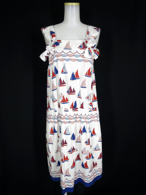 Jane Marple Dans Le Salon ヨットハーバー柄ジャンパースカート