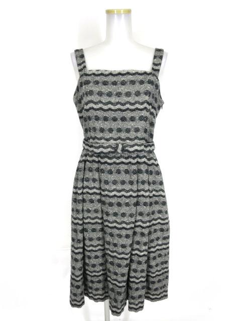 Jane Marple 水玉×スカラップ柄ジャンパースカート