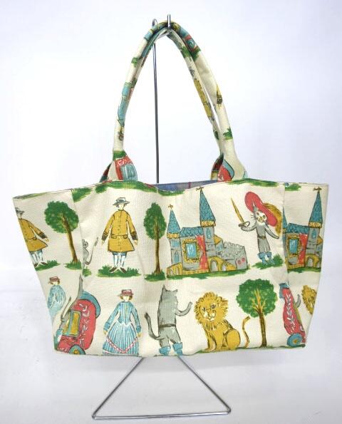 Jane Marple 長靴をはいた猫柄バッグ
