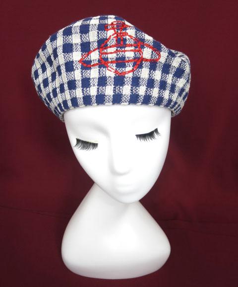 Vivienne Westwood ギンガムチェックベレー帽