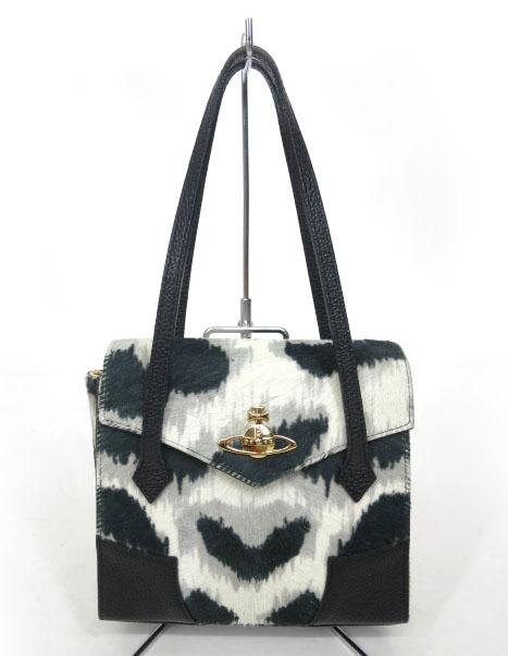 Vivienne Westwood レオパードハラコハンドバッグ