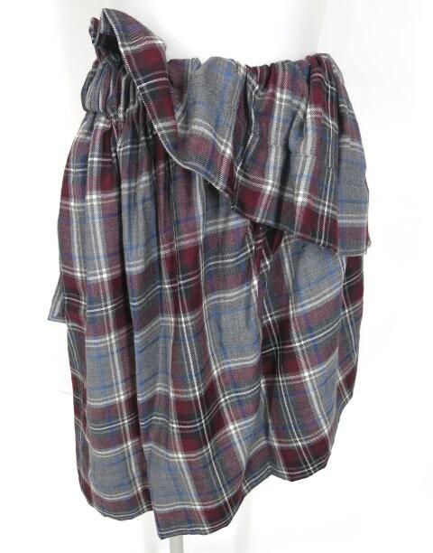 Vivienne Westwood ANGLOMANIA タータンチェックアシンメトリースカート